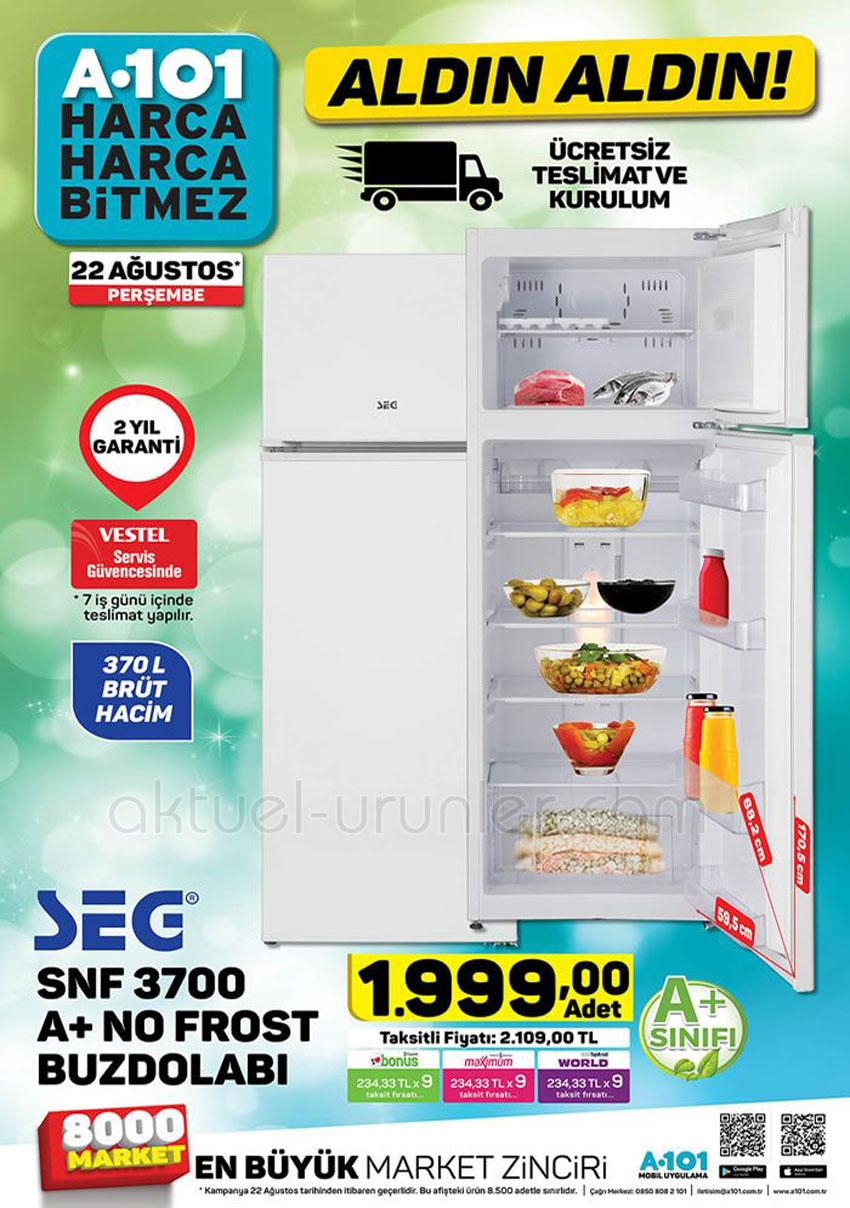 A101 SEG SNF 3700 No Frost Buzdolabı - 22 Ağustos 2019