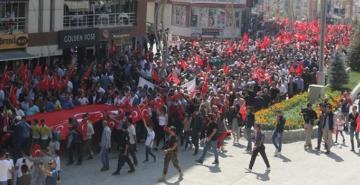 Hakkari'de teröre tepki yürüyüşü