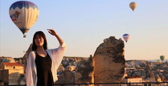 Üç Uzakdoğu ülkesi Kapadokya'yı uçurdu
