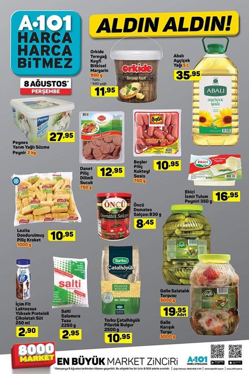 A101 8 Ağustos Gıda Aktüel Ürünleri