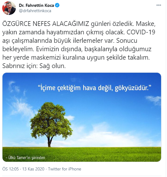 """Corona Virüs Aşı Çalışmalarında Sağlık Bakanı Fahrettin Koca'dan Müjde : """"Maske Hayatımızdan Çıkacak"""""""